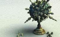 3D шахматный глобус