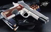Пистолет, кобура, патроны