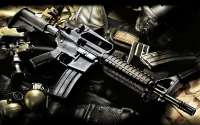 Американский автомат и гранаты