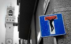 Граффити дорожный знак Тупик