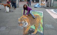 Граффити 3D тигр
