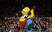 Гомер Симпсон играет на гитаре