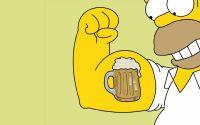 Гомер Симпсон бицепс из пивной кружки