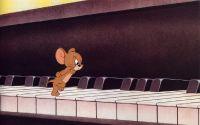Мышонок на клавишах пианино
