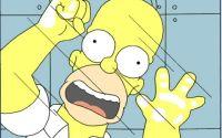 Гомер Симпсон за стеклом