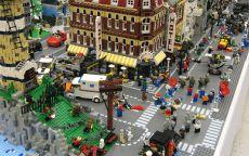 Макет города Лего