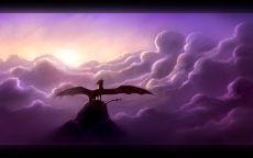 Дракон в сиреневых облаках