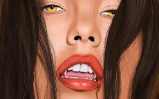 Голодная девушка вампир