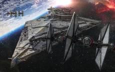 Космос, космические корабли, звездные войны, звезды