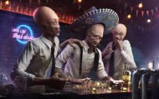 Фантастика, бар, пришельцы, пьяные, самбреро, праздник, веселье