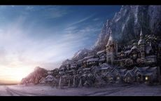 Деревня в горе