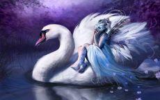 Девушка на лебеде