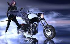 Лучница и мотоцикл