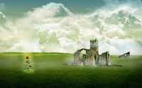 Подсолнух и развалины замка