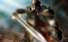 Воин бьет мечом