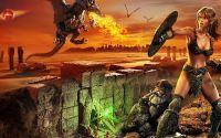 Эльф и гном против дракона