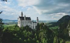 Замок Нойшванштайн, Новый лебединый камень, романтический замок, Германния