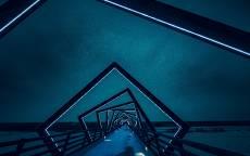 Ночь, пристань, оригинальные фонари