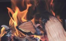 Пламя, огонь, дрова, уголь