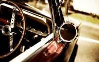 Салон ретро автомобиля