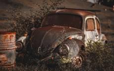 старый автомобиль, ржавый автомобиль, старый фольксваген