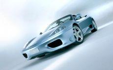 Белый Ferrari 360 Spider