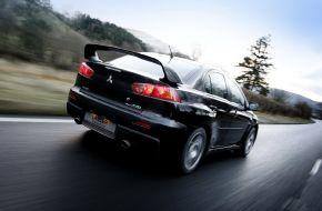 Mitsubishi Lancer Evolution на трассе