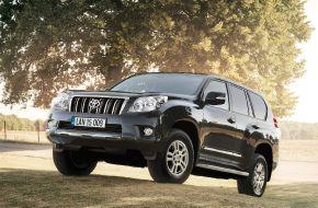 Toyota Land Cruiser на бездорожье