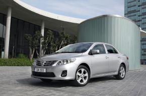 Toyota Corolla в городе