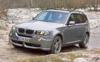 Кроссовер BMW X3 E83 на бездорожье.