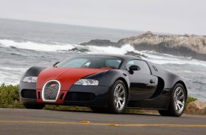 Bugatti veyron у моря