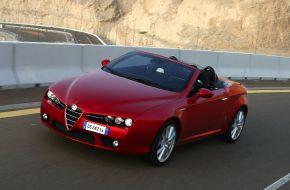 Alfa Romeo Spider на  горном серпантине