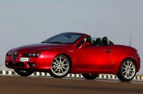 Alfa Romeo Spider на трассе