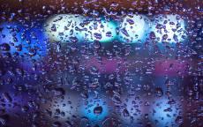 дождь, окно, капли дождя, свет в окне