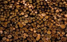 фон поленница, дрова круглые