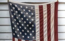 Стена, Американский флаг, сайдинг