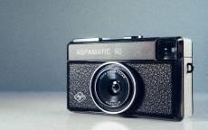 тарый фотоаппарат, объектив, пленочный фотоаппарат, агфа