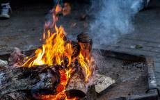 Огонь, пламя, дрова, дым