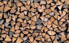 Поленница, дрова, дерево, топор