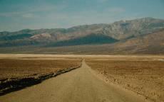 Пустынная дорога, грунтовая дорога, пустыня, горы