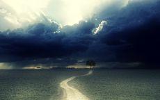 Дорога в дождь.