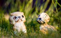 Фигурки садовые кот и собака