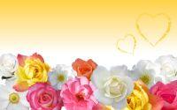 Открытка Цветы и сердца