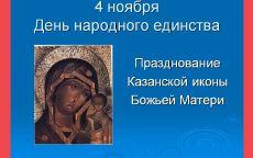 4 ноября Празднование Казанской иконы Божьей Матери