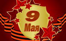 9 мая золотой щит и георгиевская лента