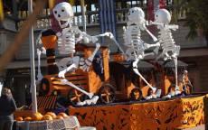 Белые скелеты на Хеллоуин Праздник