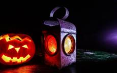 Тыква и фонарь на Хеллоуин Праздник