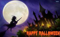 Хелуин Ведьма летит на метле