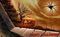 Хелуин Паук в паутине и ведьмы