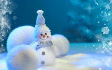 елочные игрушки шары и снеговик